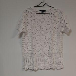 Denim 21 sweater material see through shirt